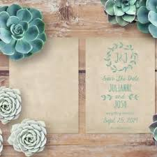 Rustic Save The Date Cards Save The Date Cards The Roche Shop