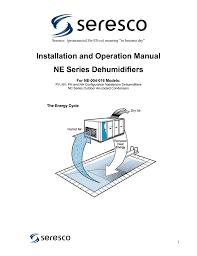 installation and operation manual ne series dehumidifiers
