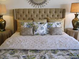 Wingback Tufted Headboard Hand Crafted Tufted Linen King Bed Headboard By Sara Palacios