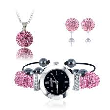 earrings necklace bracelet images New 10mm balls watch clay set crystal earrings necklace pendant jpg