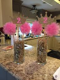 1st Birthday Party Decorations Homemade Pink U0026 Gold Princess Birthday Party Centerpiece Party Ideas