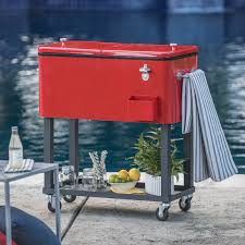oakland living 80 qt patio cooler cart hayneedle