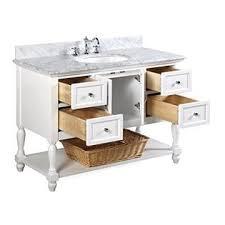 kitchen bath collection beverly 48 inch bathroom vanity carrara