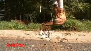 back yard sump pump with french drain get rid of the flood youtube