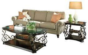 3 piece end table set standard furniture seville 3 piece coffee table set with burnished
