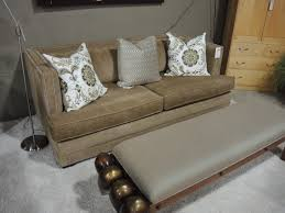Upholsters Linen Sofa Seams To Fit Home
