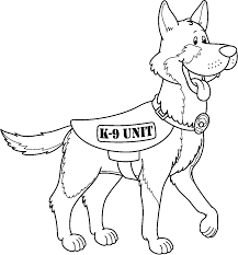 police dog coloring pages german shepherd coloringstar