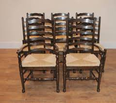 Antique Oak Ladder Back Chairs Ladderback Chairs Farmhouse Kitchen Furniture