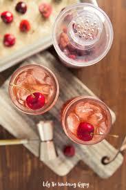 bourbon thanksgiving cocktail cherry bourbon smash cocktail recipe sofabfood
