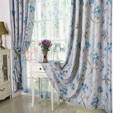 Blue Floral Curtains Country Curtains Blue Floral Print