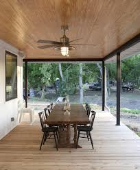 dining room paneling austin bladeless ceiling fan porch farmhouse with overhang