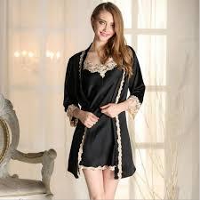 robe de chambre femme satin robe de chambre femme dshabill kimono satin contrast with robe