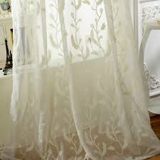 Embroidered Sheer Curtains Best Embroidery Floral Style Pleated Sheer Curtains Buy Beige