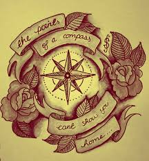 compass with flowers design photos pictures and sketches