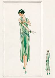 nile green gown 1920s 1920s fashion fashion greeting cards