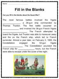 quasi war facts worksheets u0026 key historic information for kids