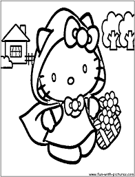 hello kitty coloring pages online eson me