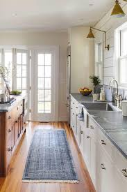 Galley Kitchen Rugs Tour This Stunning Waterfront Farmhouse Galley Kitchens