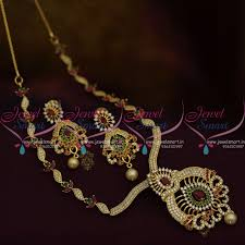 gold colour chain necklace images Nl10029 gold plated cz slider chain pendant fashion necklace JPG