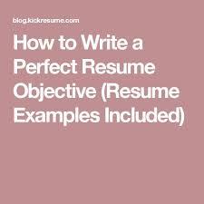 best 25 resume objective ideas on pinterest good objective for