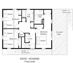 the seawind floor plan oceanfront vacation rental seawind