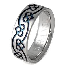 titanium wedding rings titanium celtic promise rings ck35blue titanium rings studio