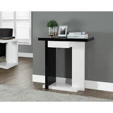Accent Table L Monarch Specialties Black And White Console Table I 2457 The