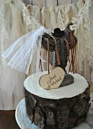 western saddle wedding cake topper bride and groom rustic