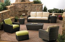 furniture ideas outdoor stone fireplace facing patio furniture with