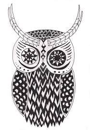 tribal owl tattoo fantastic tribal owl tattoo