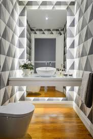 48 best bathroom wallpaper images on pinterest bathroom