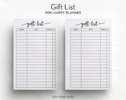 christmas gift list mini happy planner gift list christmas