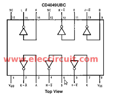 ic 4049 hex inverter datasheet square wave oscillator