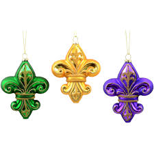 mardi gras earrings mercury glass mardi gras fleur de lis ornaments set of 3