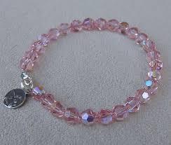 crystal pink bracelet images Pink crystal guardian angel baptism bracelet gracemary jpg