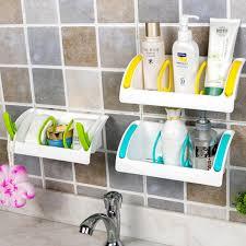 Suction Cup Bathroom Shelf 1pcs Kitchen Sink Suction Cup Bathroom Storage Shelf Rack Home