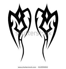 tribal tattoo art designs sketched simple stock vector 705695329