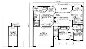 best bungalow floor plans the bungalow 7950 3 bedrooms and 2 5 baths the house designers