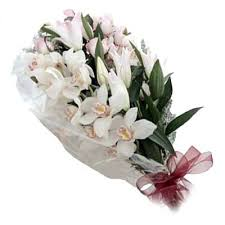 White Orchid Flower Buy Special Bunch Of 12 Cute White Orchids Flower 222 Online