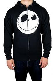 disney nightmare before mens zip up hoodie small black