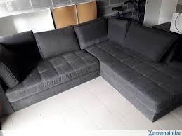 canape d angle noir superbe canapé d angle noir en l a vendre 2ememain be