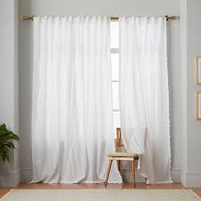 White Curtains With Pom Poms Decorating Ponerle Estos Pompones A Las Cortinas De Ikea Blancas Batik Pom