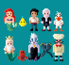 disney u0027s mermaid characters 8 bit lustriouscharming