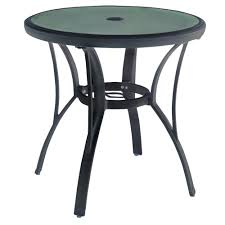 Patio Bistro Table Hton Bay Commercial Grade Aluminum Grey Outdoor Bistro