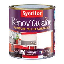 peindre porte cuisine peinture rénov cuisine syntilor blanc 0 5 l leroy merlin
