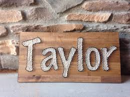 custom name board order string art sign nursery decoration baby