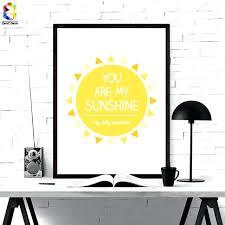 affiche deco cuisine affiche deco nordique minimaliste typographie mon soleil citations