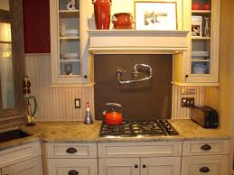 Beadboard Backsplash In Kitchen Kitchen Appropriate Kitchen Decoration Withchromium Oven And
