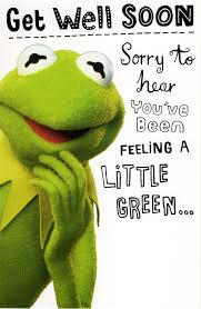 kermit the frog get well soon card disney muppets greeting cards