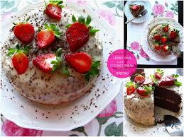 gluten free chocolate carrot cake with coconut espresso cream